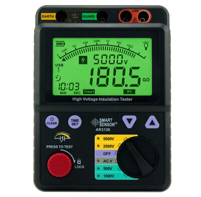 Professional High Voltage Insulation Tester 0-1000g Ohm 5000v Smart Sensor