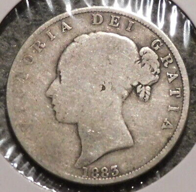 British Silver Half Crown - 1883 - Overstock Sale! - $1 Unlimited Shipping -042