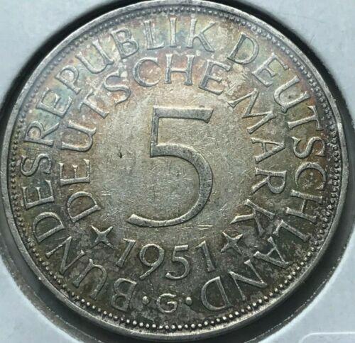 1951 G Germany 5 Mark