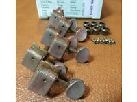 aged Kluson SUPREME 18:1 nickel tuners RELIC/'D fit Fender Strat Tele KTS9105MN
