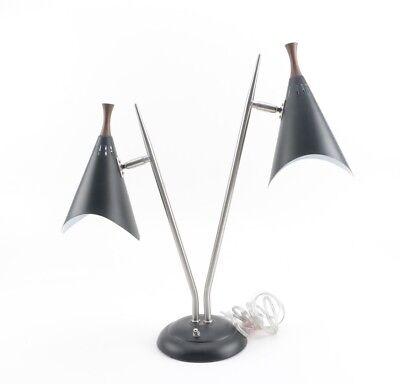 Arcadia Collection Black & Silver Tone Lamp