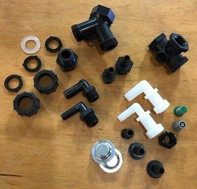 Trailer & Sprayer Kit: tip nozzle body tee hose barb screen valve & free gauge!