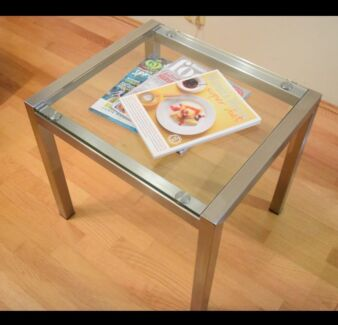 Customised Glass Table, Side Table, Coffee Stainless Table