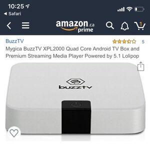 Buzz TV XPL2000 IPTV Android box (1 month subscription left)