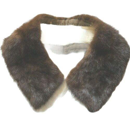 Vintage Mink Fur Coat Sweater Collar Only Luxury Animal Hook Closure Lined