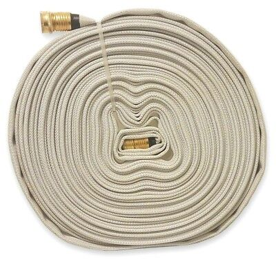 Fire Hose with Garden Thread, 100Ft., WHITE, 250 PSI
