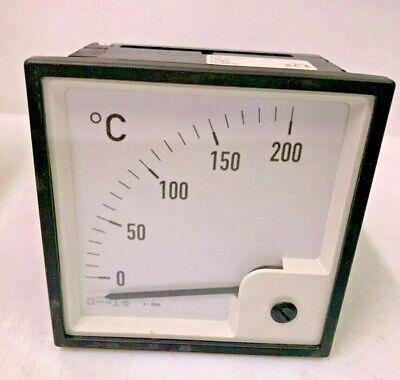Eltroma Technik Pq96 4..20ma Moving Coil Instrument Panel Meter Scale 0...200 C