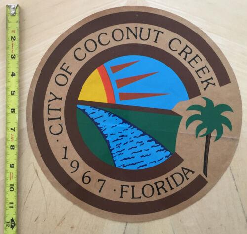 CITY OF COCONUT CREEK FL  COP CAR DOOR DECAL SHIELD FLORIDA POLICE *