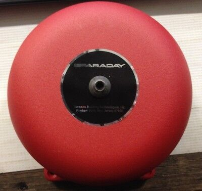 New Faraday Red Fire Alarm Bell 6 21-30 Vdc