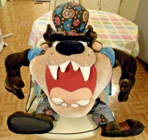 "GIANT HIPPIE TAZ PLUSH LOONEY TUNES TAZMANIAN DEVIL, 1998 ACE 34 X 33"""