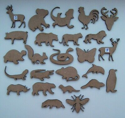 MDF Wooden Animal, cut out shapes, craft making, decoration, embellishment VOL 2