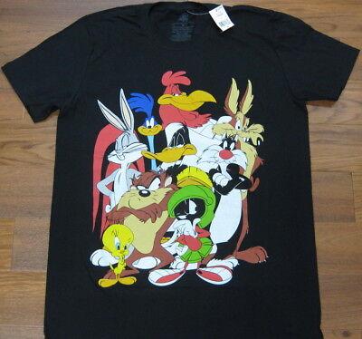 Looney Tunes T Shirt Black Bugs Bunny Daffy Duck Tweety Bird NEW Men M L XL XXL ()