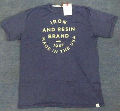 Iron and Resin Brand Circle T-Shirt - Blue  Small