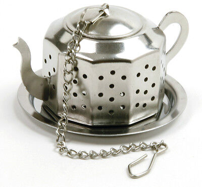 Norpro 5513 Teapot Tea And Herb Infuser Wth Tray Stainless Steel on Sale