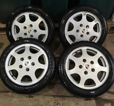 Porsche 924 944 silver rose style 8x16R 7X16F Club Sport Style Wheel wheels
