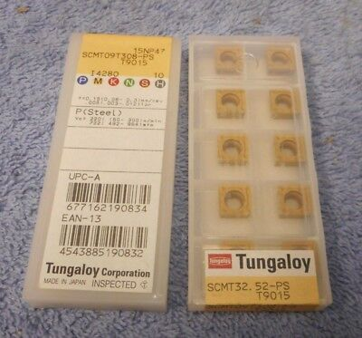 Tungaloy  Carbide Inserts  Scmt 32.52 -ps Pack Of 10 Grade T9015