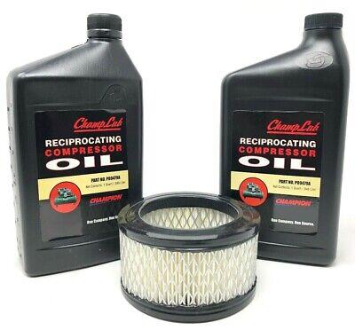 Champion 2 Ea Quart Of Reciprocating Air Compressor Lubricant Oil 1 Air Filter