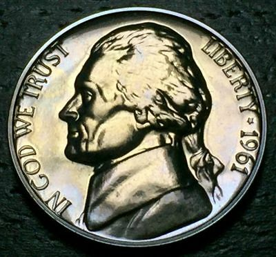 - 1961 Proof Jefferson Nickel Full Steps Nice Coins Priced Right Shipped FREE