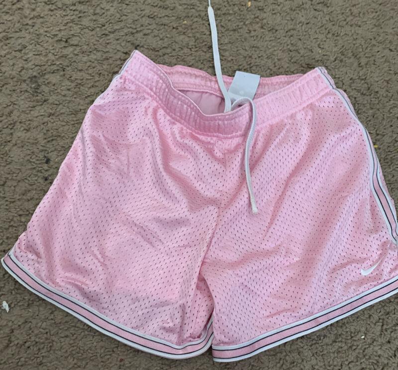 Nike PInk MESH DRAWSTRING ATHLETIC SHORTS girls size 10 12 Medium