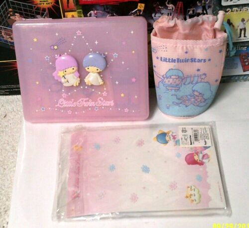 Lotof 3 SANRIO LITTLE TWIN STARS 2004 STATIONARY KIT & pouch & staionary