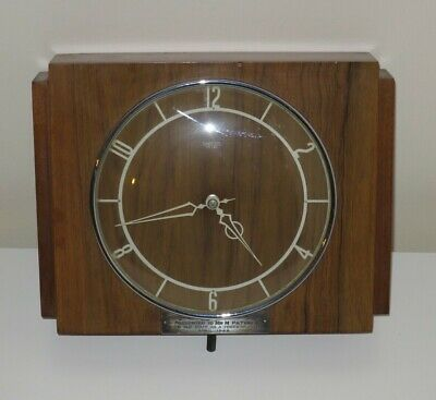 Smiths Sectric English Clocks Vintage 1940s Synchronous Electric Wall Clock