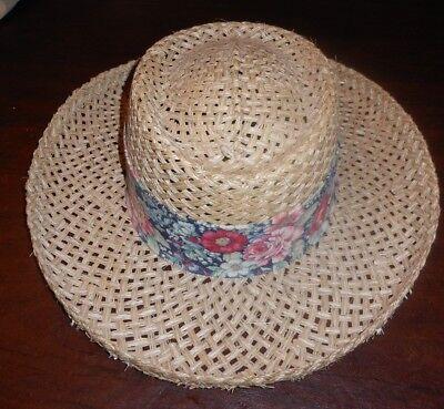 Maxfli Golf Tan Straw Hat Multi Color Hat Band Women s One Size New USA 6a6ef2cb530f