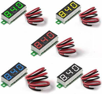 5pcs 2-wire Mini Dc 2.5v-30v Led Panel Voltmeter 3-digital Display Voltage Meter