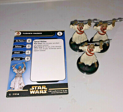 Star Wars Miniatures Rebel Storm 3 x TUSKEN RAIDER #57