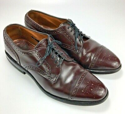Allen Edmonds Lloyd Burgundy Leather Wingtip Oxfords Size 9 D