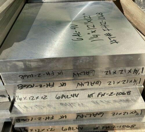 "Titanium Plate 6AL4V 12"" x 12"" X 1"""