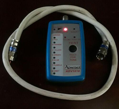 Advantage ADV1018 Coax Cable Mapper Toner Tracer for RG6 CATV