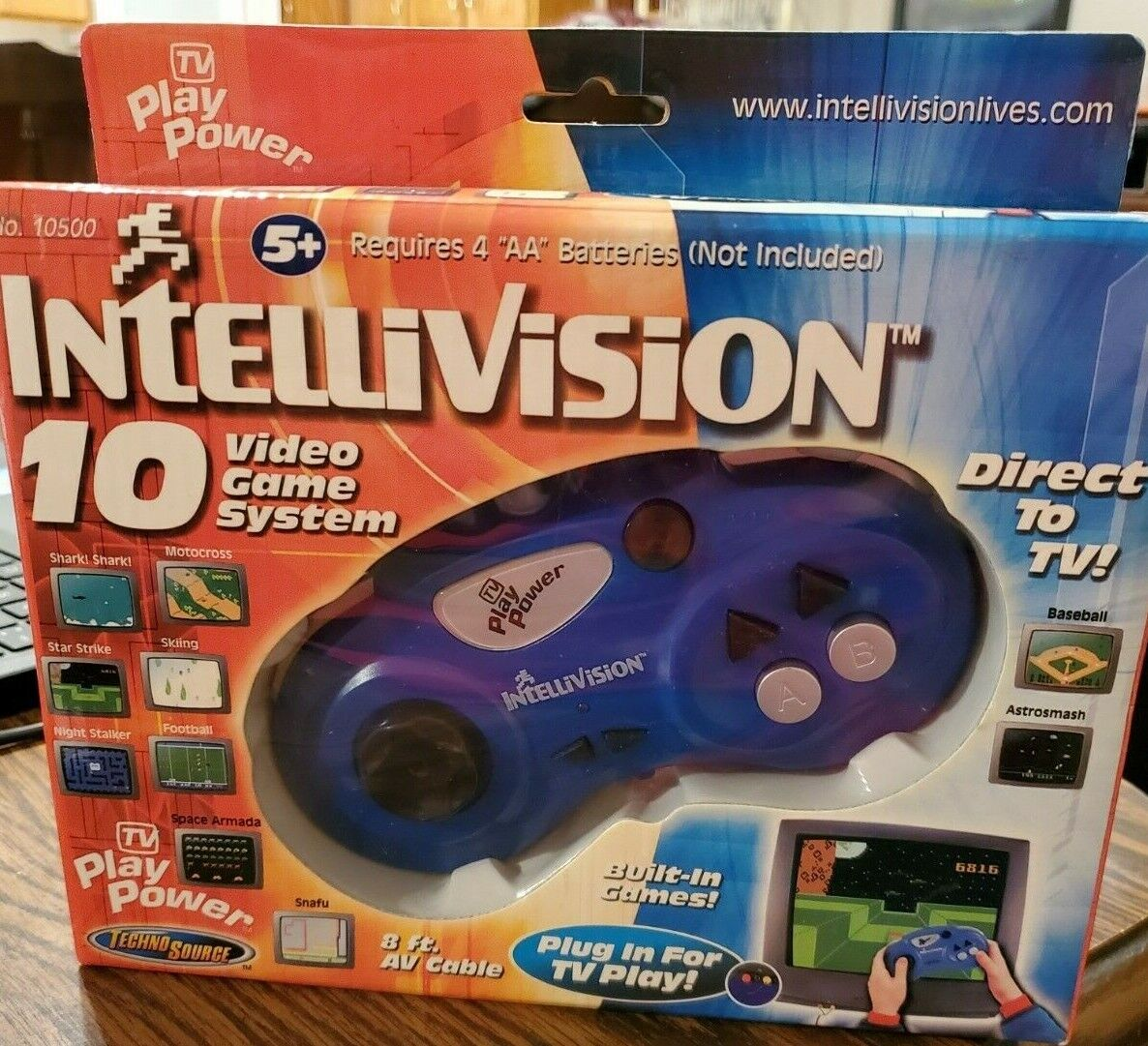 Intellivision Plug N Play 10 Video Game System TV Play Power New