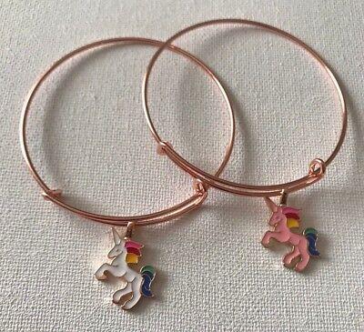 Pink/White Unicorn Charm Expandable Bracelet ](Unicorn Bracelet)