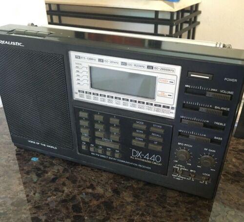 Realistic DX-440 AM/FM Direct Entry Communications Receiver - Shortwave, LW/MW