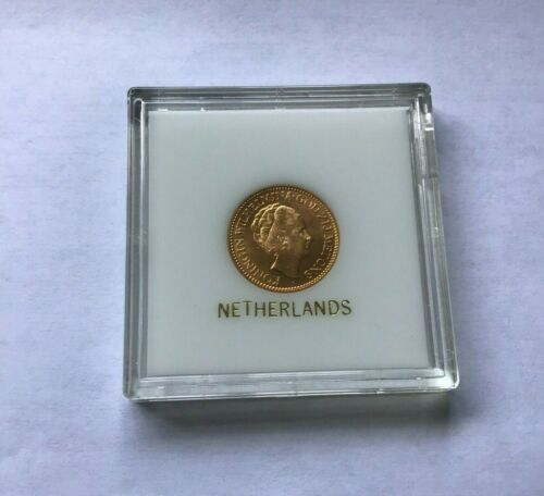 1932 Netherlands, Wilhelmina I,10 Gulden Gold Coin