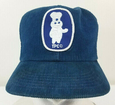 Vintage PILLSBURY DOUGHBOY PATCH Corduroy K-Brand Trucker Cap Snapback Hat  USA