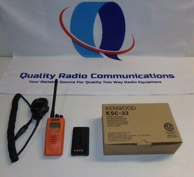 Kenwood Tk-5220-k 136-174 Mhz Vhf P25 Two Way Radio Tk-5220 W Ksc-32 Charger