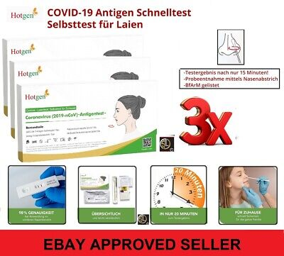 3er Corona Schnelltest Laien Test Covid19 Antigen Sars Antikörper - von HOTGEN®