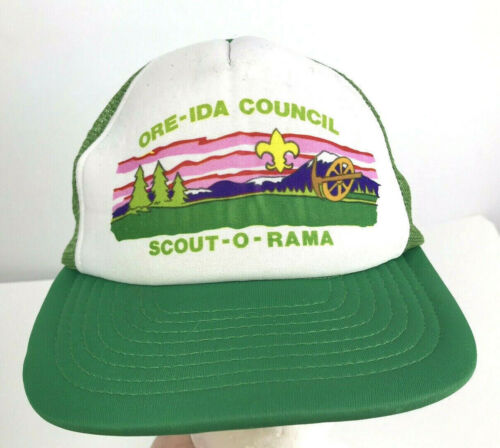 Vintage Ore-Ida Council Trucker Hat Scout-O-Rama Boy Scouts Mesh 1980s RARE