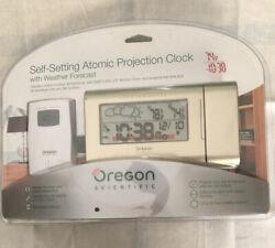 OREGON Scientific (BAR623PA) Self Setting Atomic Projection Clock Weather Foreca