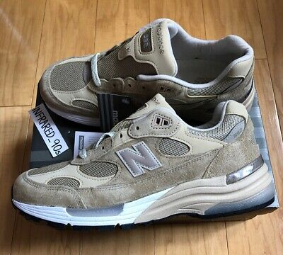 NEW New Balance M992 Tan Made In USA Men's size 9 Beige Suede Kith WTAPS Running