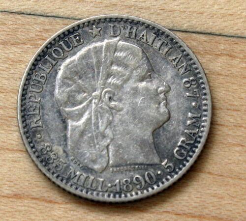 1894 Haiti 20 Centimes Silver