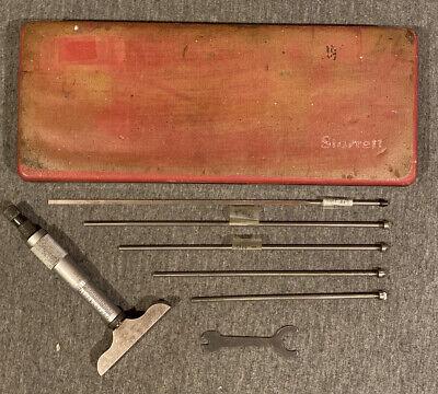 Starrett 0-8 Inch Depth Micrometer Set No. 440