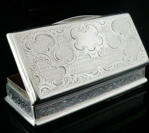 Unidentified Antique Silver Snuff Box, Late 19th Century