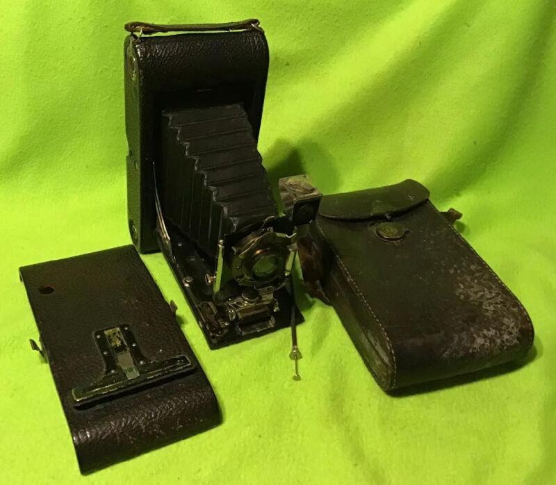 Vintage ~ 1909 ~ Kodak ~3A~ Vest Pocket Autographic ~ Folding Camera ~  w/ Case
