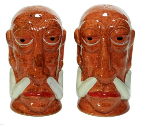 Mr Bali Hai Headhunter Cannibal Salt & Pepper Shakers by Tiki Farm Retired 2008
