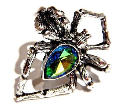 Wolf Spider Ring Rainbow Rhinestone Crystal Tarantula Huntsman Punk Halloween 2H