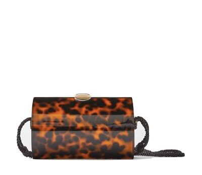 ZARA Methacrylate Crossbody Oval Box Bag Leopard Animal Print