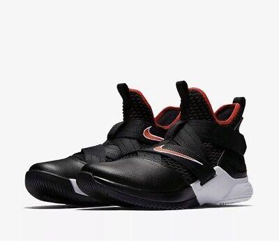 sale retailer d1023 f44e6 Nike Lebron Solider 12 SFG Size 10.5 Black Red AO2609 001 Jordan KD