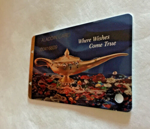 Player Slot Club Reward Card The Aladdin Casino Where Wishes Come True Las Vegas